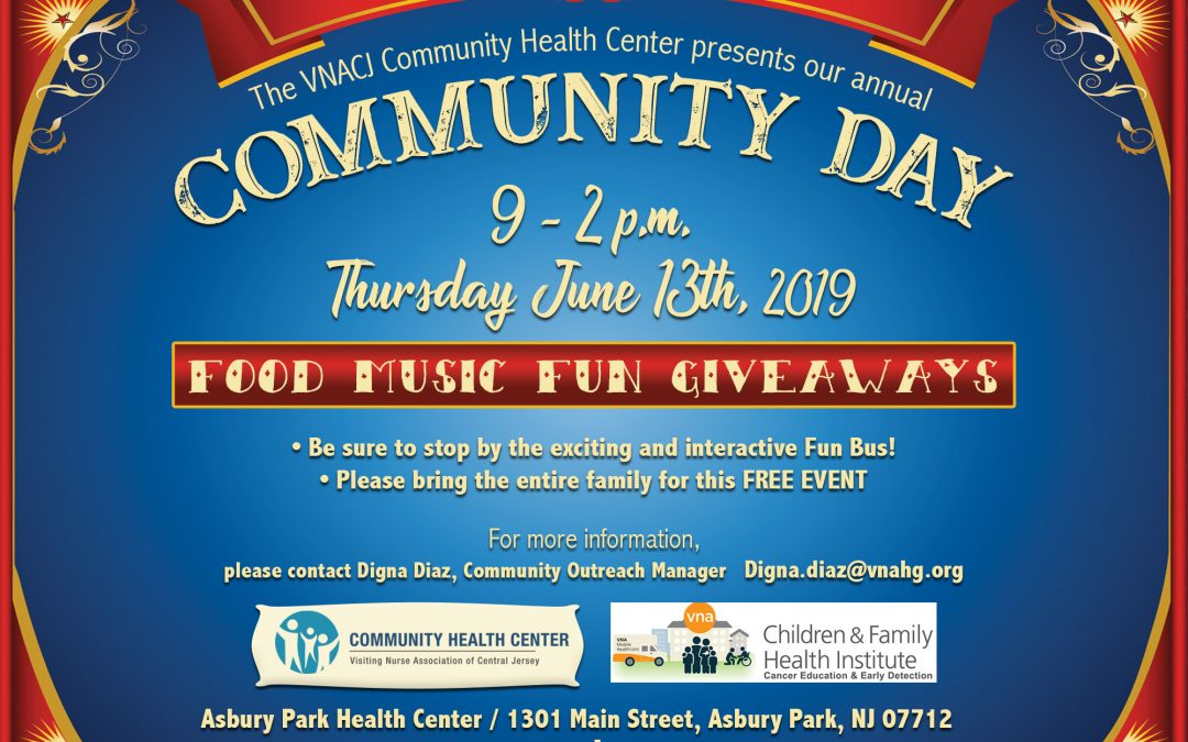 VNACJ Community Health Center of Asbury Park Presents Community Day!
